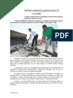 15.08.2014 Comunicado Propone Esteban Asistencia Gratuita Para La Vivienda