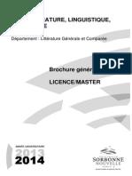 Sorbonne Nouvelle - Brochure LGC