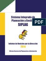 Informe Revision Direccion 2015