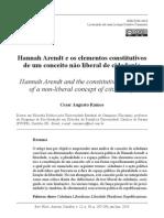 Hannah Arendt e os elementos constitutivos de um conceito não liberal de cidadania