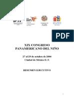 XIX CONGRESO PANAMERICANO DEL NIÑO