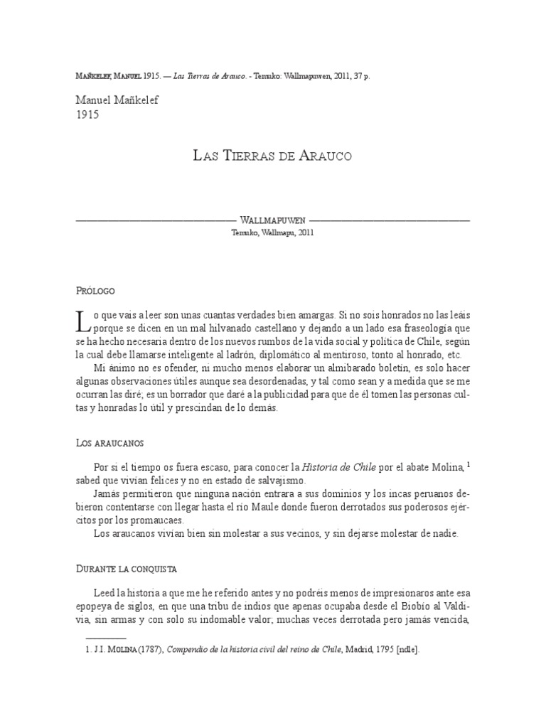Manquilef-Las Tierras de Arauco