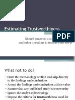 estimatingtrustworthiness