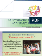 La Integracion Familiar y La Atención Educativa