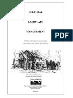 Australian Alps National Parks (1996) - Cultural Landscape Management Guidelines