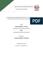 ALIMENTACIÓN DE ENERGÍA ELÉCTRICA DE LOS INSTITUTOS DE LA UNAM CON ESTRUCTURA EN ANILLO (ALIMENTADOR K).