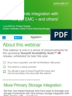 Veeam Extends Integration With Hp Netapp and Emc