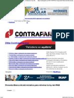 08-10-15 Presenta Blanca Alcalá iniciativa para reformar La Ley del IPAB