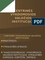 Centrines vytkdomosios valdzios institucijos +