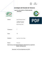 Protocolo Mantenimiento Preventivo ( Afinacion )