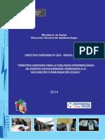Minsa Ficha de Investigacion Epidemiologica Esavi