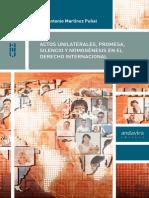 Actos Unilaterales-promesa-silencio y Monogénesis en El Derecho Internacional