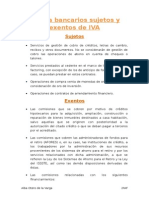 gastos bancarios sujetos y exentos de iva