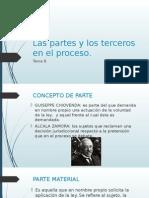 Las Partes y Los Terceros en El Proceso en México.
