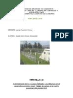 Ecología  Administración de los recursos naturales y su influencia en el desarrollo económico local. Trabajo de campo en el centro experimental Aylambo-UNC