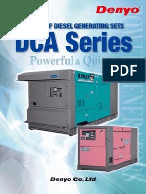 Denyo Dca Models | Electric Generator | Diesel Engine