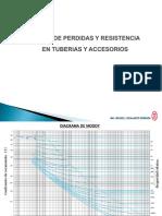 Tablas de Perdidas y Resistencia en Tuberias y Accesorios