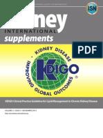 KDIGO Lipid Management Guideline 2013