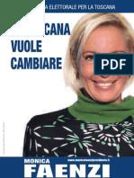 MONICA FAENZI - PROGRAMMA ELETTORALE PER LA TOSCANA