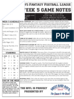 BFFL Notes Week 5