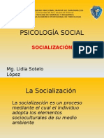 Psicologia SocPSICOLOGIA SOCIAL SOCIALIZACIÒN.pptial Socializaciòn