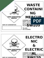 Labelling Scheduled Waste