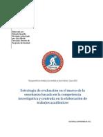 Estrategia de Evaluacion Ensenanza Basada en La Competencia Investigativa