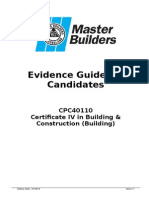 Evidence Guide for CPC40110 v2 by Master Builders