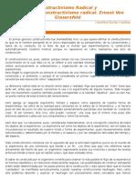 Resumen y Reflexión Del Constructivismo Radical.