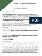 La Constitución Mexicana y Las Garantías Individuales