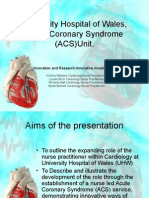University Hospital of Wales, Acute Coronary Syndrome