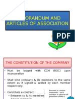 CRG520-MEMORANDUM AND  ARTICLE OF ASSOCIATION