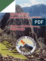 DICCIONARIO QUECHUA - ESPAÑOL