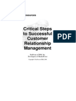 Critical Steps to Successful CRM