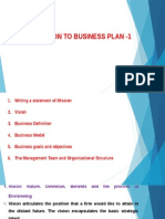 Part 1 Business Paln