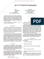 Survey Paper on Threshold Cryptography