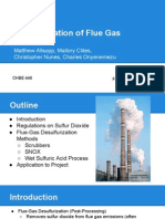 Desulfurization of Flue Gas