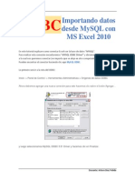 Odbc Excel Mysql