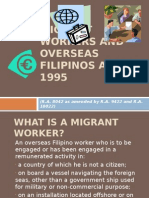 Migrant Workers and Overseas Filipinos Act of 1995