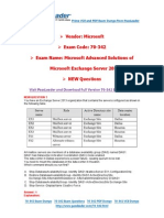 New 70-342 Exam Dumps With PDF and VCE Download