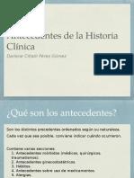 Antecedentes de la Historia clínica