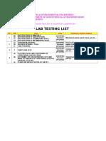 List of geology Lab Test
