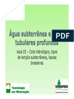 Aula 03 - Ciclo Hidrologico Tipos de Lencois e Bacias Brasileiras