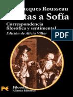 Rousseau, J.J. - Cartas a Sofia. Correspondencia Filósofica y Sentimental