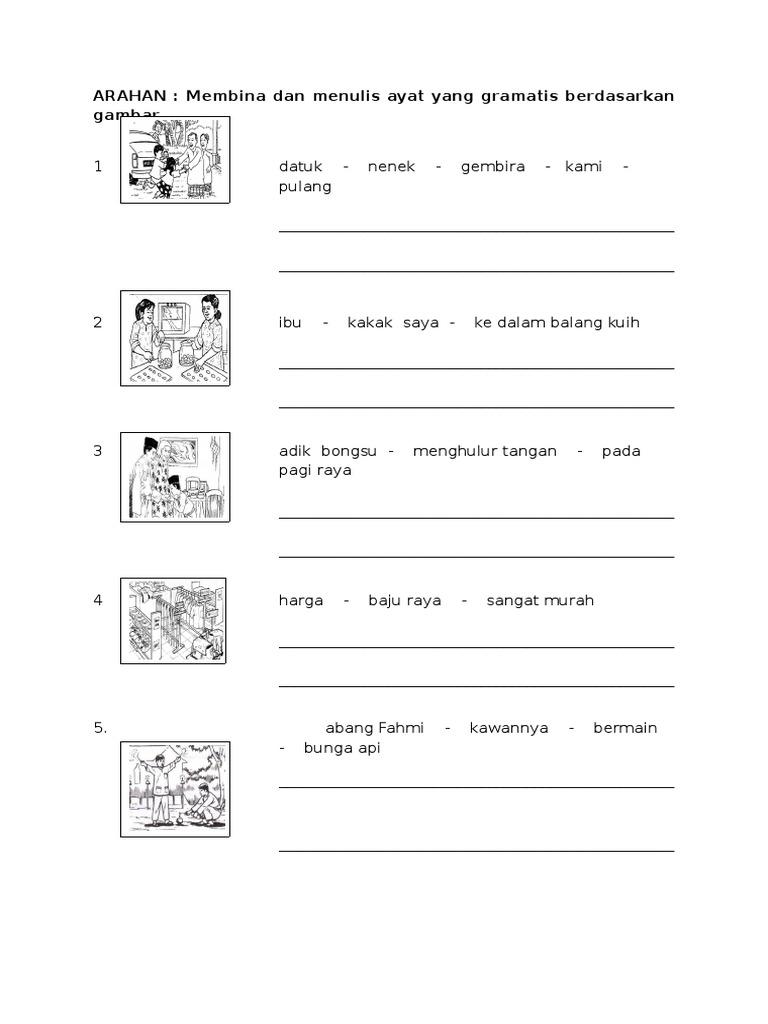Latihan Membina Ayat Berdasarkan Rangkai Kata Yang Diberi Docx