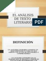 Análisis de Texto Literario