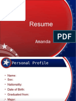 Resume Ppt Template 003