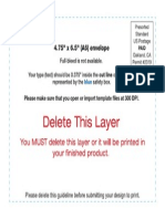 Envelope Layout Template Standard a6