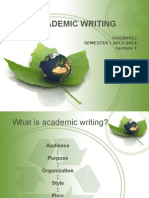 Academic WritingLect 1 GB6012 Dr Nooreiny