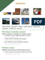 Economic Sectors- WORKSHEETS